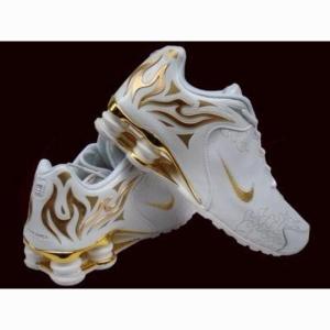 Nike Shox Gold Flames 3