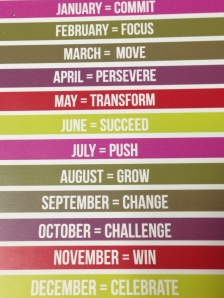 year motivation calendar